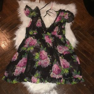 Betsey Johnson intimate sheer lingerie dress